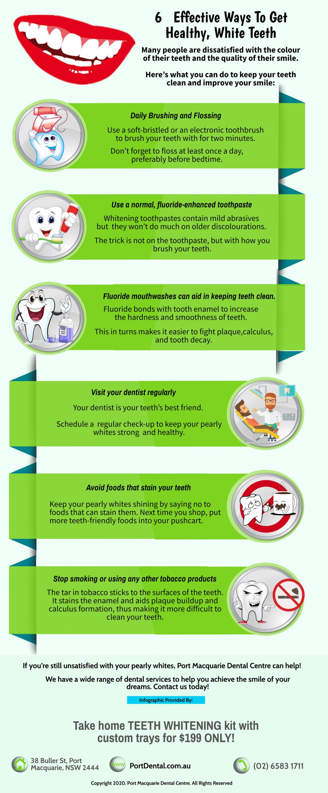 6 effective ways to get healthy white teeth port macquarie infographics
