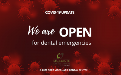 COVID-19 UPDATE: We Are Open For Dental Emergency